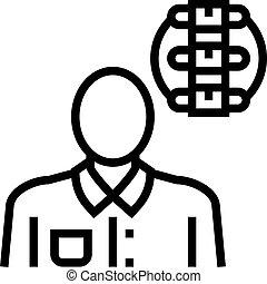 医学, 専門家, アイコン, rheumatology, 線, ベクトル, イラスト