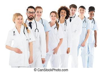 医学, 幸せ, 聴診器, チーム