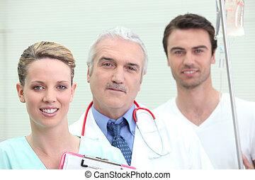 医学, 彼の, 患者, 滴り, チーム