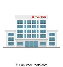 医学, 病院, icon., 建物
