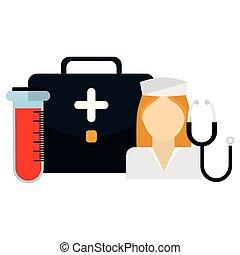 医学, 看護婦, キット