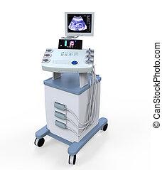 医学, 超音波, 診断, machi