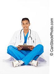 医学, indian, 労働者, 若い