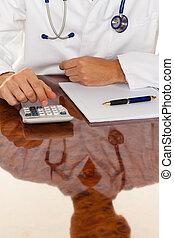 医業, calculator., costing, 医者