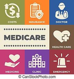 医療保障, サイン, 概念アイコン
