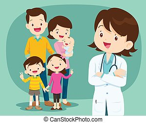 医者, かわいい, 微笑, 医学, family2