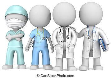 医者, そして, nurse.