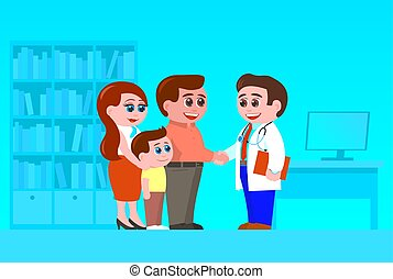 医者。, 会いなさい, 息子, 親, 家族