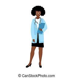 医者, 女, アメリカ人, アフリカ