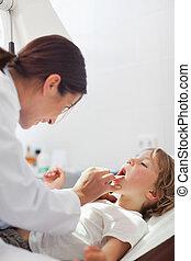 医者, 検査, 子供