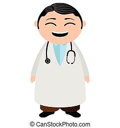 医者, 特徴, 漫画, アジア人
