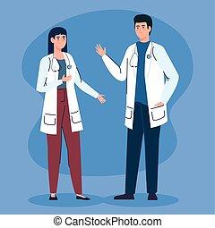 医者, 特徴, avatar, 聴診器, 恋人