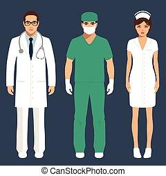 医者, 看護婦