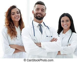 医者, group., 隔離された, 医学, バックグラウンド。, 白