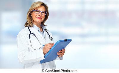 医者, woman.