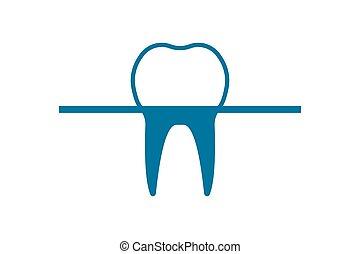 医院, 氷山, 歯, 形態, ベクトル, バックグラウンド。, logo., イラスト, 歯医者の, 白, ocean.