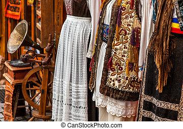 區域,  transylvania, 羅馬尼亞語, 服裝, 傳統,  sighisoara