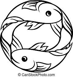 十二宮圖簽名, 雙魚宮, fish