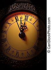 十二, 显示, 钟, 大约, 时间