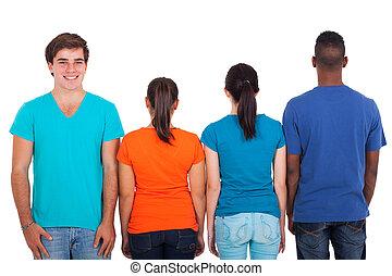 十代の若者たち, グループ, 横列