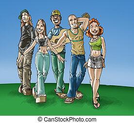 十代の若者たち