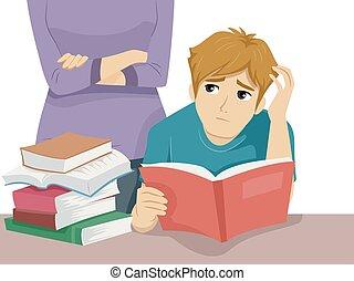 十代, 圧力, 人, 勉強しなさい
