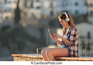 十代, 町, 電話, 音楽が聞く, 痛みなさい