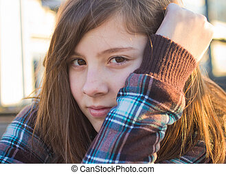 十代, 肖像画, 女の子