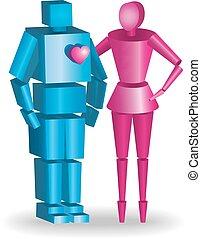 十分に, 恋人, scalable, 抱き合う, ベクトル, イラスト, 3d