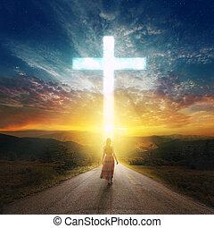 十字の 道