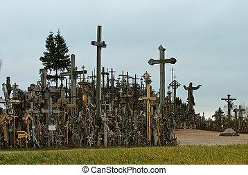 十字, 北, リスアニア, サイト, 丘, 巡礼