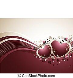 升高, 背景, valentine
