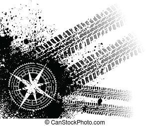 升高, 轨道, 轮胎, 风