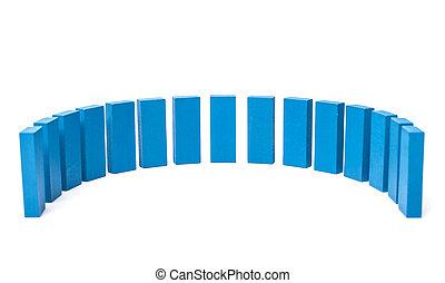 半円形, から, の, 青, ブロック