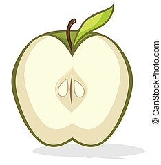半分, 緑のリンゴ