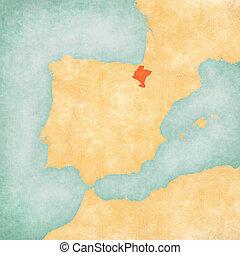 半島, 地図, murcia, -, イベリ...