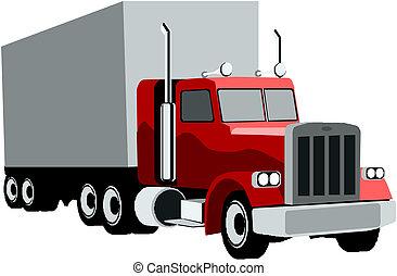 半拖車, 卡車