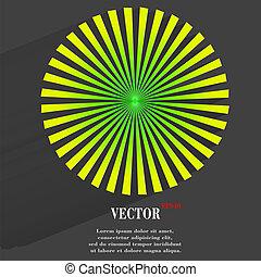 半, ライト, 抽象的, 上にあること, burst., 円, 効果, 背景, 太陽, 透明, blurry