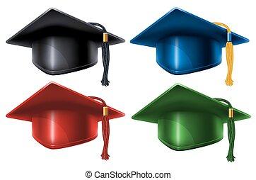 卒業の帽子, セット