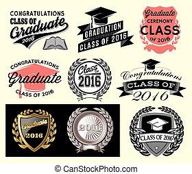 卒業生, クラス, セクター, congrats, セット, 卒業, 卒業生, おめでとう, 2016