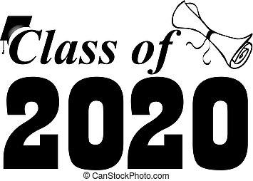卒業証書, クラス, 旗, 2020, 帽子