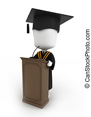 卒業, スピーチ
