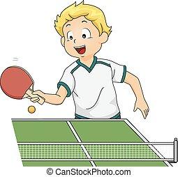 卓球, 男の子