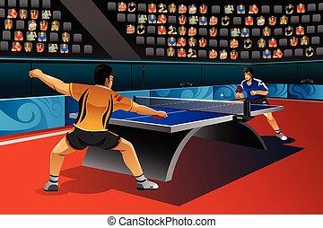 卓球, 競争, 男性, 遊び
