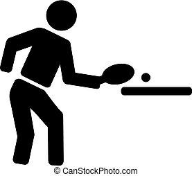 卓球, pictogram