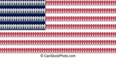 協力, アメリカ, 人々, 概念, 国旗, アメリカ人, ベクトル, 背景, 政治
