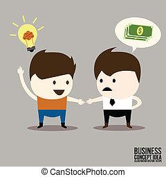 協力, ビジネスマン, 取引