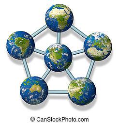協力, 世界的である, 北アメリカ
