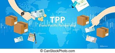 協力, 合意, 太平洋, 取引しなさい, 無料で, tpp, インターナショナル, trans, 市場