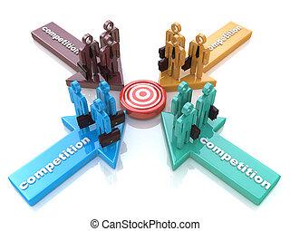 協力, 比喩, ∥あるいは∥, 競争